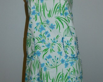 vintage 1970s Lilly Pulitzer floral print dress / The Minnie / button back sundress girls 14