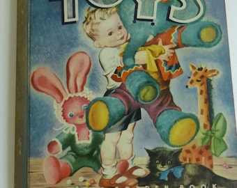 Rescued Vintage Little Golden Book Toys by Edith Osswald Illustrated by Masha  Blue Binding