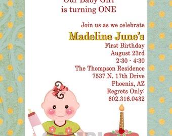 Baby Girl Party Invitation