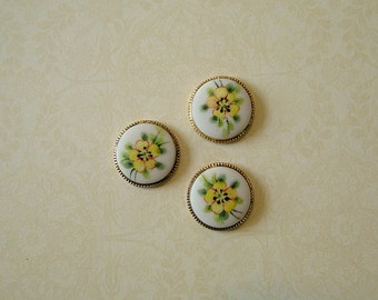 Yellow Wild Rose set of 3