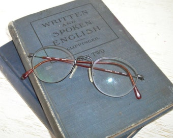 Charmant wire glasses - made in Japan 140mm frame 48-21 - gunmetal black and tortoise frame - CH8417