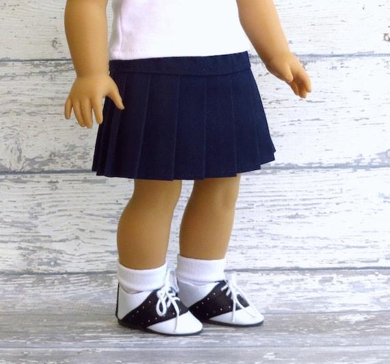 American Girl Doll Clothes School Uniform Navy Blue Pleated Skirt, AG Doll Clothes Dark Blue Skirt