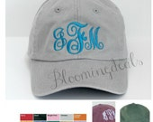 RESERVED Custom Order Monogram Baseball Cap Personalized Summer Hat Low Profile Pigment Dyed Unconstructed