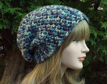 Slouchy Beanie in Storm Multicolor, Womens Crochet Hat, Oversized Slouch Beanie, Chunky Hat, Slouch Hat, Baggy Beanie, Slouchy Hat