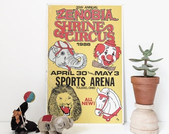 vintage shrine circus poster | 1986