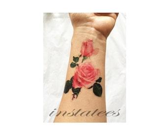 Romantic Style Temporary Rose Tattoo Tumblr Style