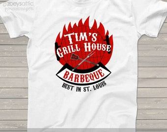 Best barbecue custom Tshirt - great Father's Day or Christmas gift for dad or grandpa