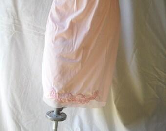 Vintage Slip Pink Slip Vintage Lingerie Vintage Half Slip