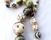 Eastern European Folk Art Necklace // Vintage // Matroshka