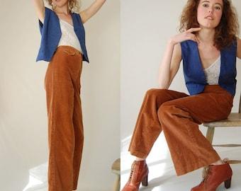 Preppy Menswear Vest Vintage Smokey Blue Preppy Folk Wool Menswear Waistcoat Vest (s m)