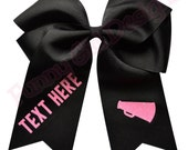 CUSTOM Design Your Own Jumbo CHEER BOW with Your Team or School Colors - Glitter Font!