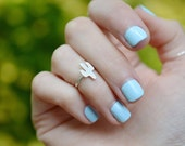 Cactus midi ring // sterling silver ring, cacti, succulent, plant, tiny ring, toe ring