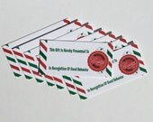 8 Pack Official Santa gift tags for Christmas gifts (NO STRINGS)