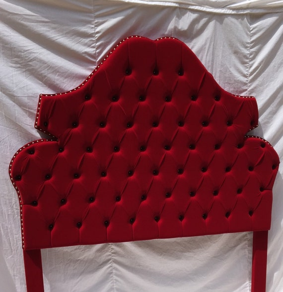 red velvet headboard tufted headboard king queen full twin, Headboard designs