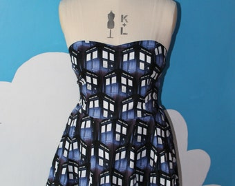 doctor who tardis sweet heart dress