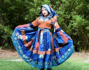 Upcycled Vintage Silk Sari Sarree Coat by SnugglePants- Custom