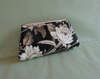 Clutch Bag Black and White Pocketbook Purse Handbag