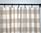 Reserved for Angie - Curtain Panels in Buffalo Check Premier Prints Anderson Ecru