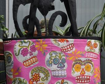 Sugar Skulls Shopping or Record Bag