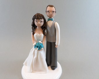 Custom Wedding Cake Topper Bride & Groom