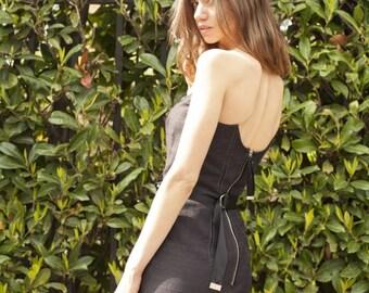 SAMPLE SALE! Hilary Black Strapless Pencil Dress