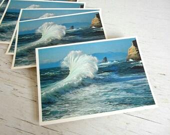 Oregon Coast Postcards | Cape Kiwanda | Ocean Surf | Beach Coast | Pacific Northwest | Save the Date | Oregon State Park
