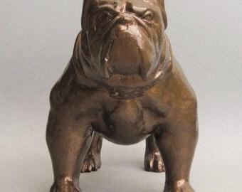 Crusher ... Bulldog Mascot Figurine