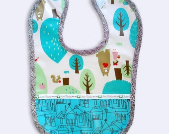 Bib , Baby , Toddler , Unisex , Laminated , Chocolate Forest