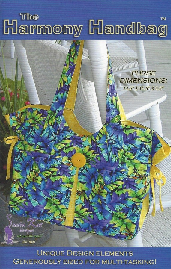 HandBag Sewing Pattern Purse Pattern Ladies Hand Bag Sewing Pattern ...