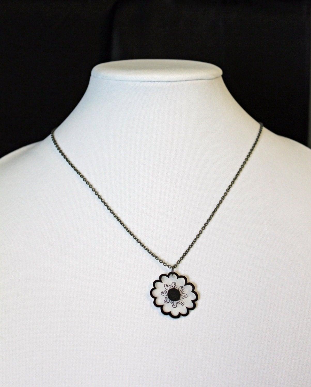 shrinky dink necklace shrink plastic jewelry by