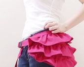 New Year SALE - 20% OFF Gathered Waist Purse in Hot Pink LAST 2 / Fanny Pack / Hip Bag / Pouch / Waist Belt / Small / Women / For Her