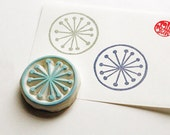 flower rubber stamp. floral hand carved rubber stamp. circle stamp. spring stamp. flower pattern stamp. diy birthday. mother's day crafts