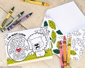 "Kids Mother's Day Card Coloring page cute safari lion printable craft classroom daycare activity. ""I'm not Lion, you're the BEST MOM EVER"""