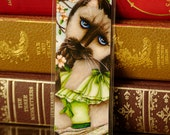 Siamese Cat Bookmark, Scarlett O'Hara, Gone With the Wind Paper Bookmark