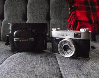1960's Wards XE200 35mm Film Camera with Case