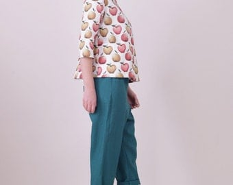 SALE Fine day top - Apples (50% OFF)