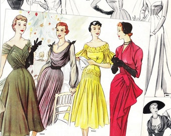 "PDFs of 50s Parisian sewing pattern catalogs - ""Primerose"" Vol.1 - instant download - 41 pages"
