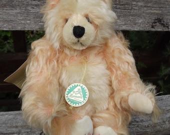 Hermann Mohair Bear Peach Panda Designed by Ulla Hermann Limited Edition # 844/1000