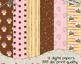 Choco Cupcake - Digital Paper