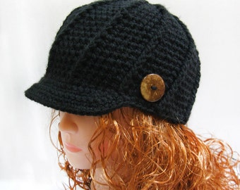 Crochet PATTERN -Crochet Newsboy Hat Pattern- Newsboy Cap Pattern, Crochet Newsgirl Hat Pattern, Easy Crochet Hat Patterns n71
