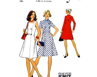 Vintage Dress Pattern Style 4531 Paneled Dress Bias Collar Tie or Square Neckline Womens Sewing Pattern Size 12 Petite UNCUT