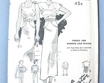 Uncut 1930s Butterick 5836 Halter Dress  Vintage Sewing Pattern Delineator New Deltor 30s Dress Pattern Bust 36