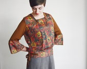 Silky 1920s Patterned Blouse - S/M