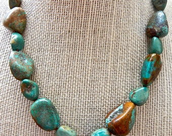 Genuine Turquoise Chunk Necklace