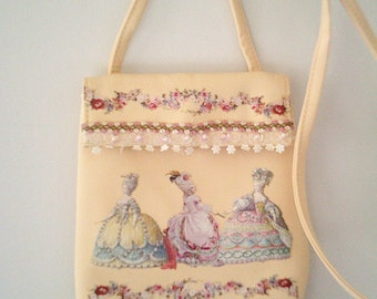 Marie antoinette purse, marie antoinette dress, romantic handbag, feminine purse, flower bag