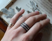 Single Silver Drop Ring Stacker-your size