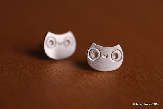 Little Owl Stud Earrings