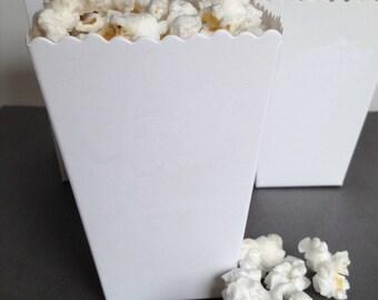 Wedding Popcorn Box Favor, Mini Popcorn Box, Popcorn Bar, Matte Paper - Blank