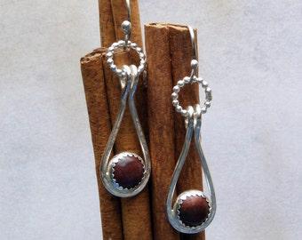 Mahogany Obsidian Dangles in Sterling Silver