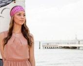 Pink Silk Headband, Silk Head Wrap, Hot Pink Headpiece, Summer Headband, Bohemian Headband, Boho Headband